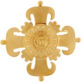 Versace Crest-embossed medal brooch