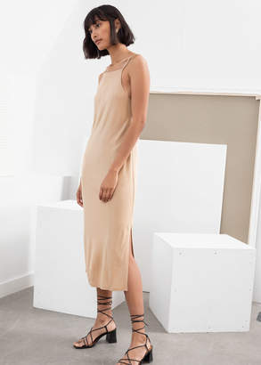 And other stories Square Neck Midi Slip Dress
