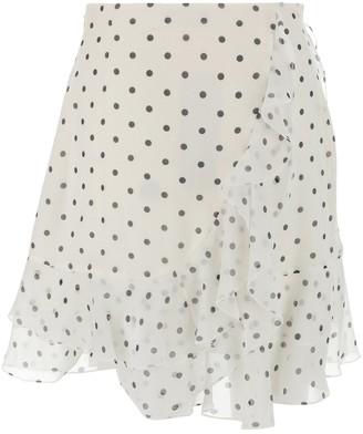 Balmain Polka-Dot Mini Skirt