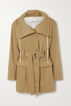 3.1 Phillip Lim Space For Giants Belted Organic Cotton-twill Jacket - Taupe
