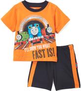 Children's Apparel Network Thomas & Friends Orange Tee & Blue Shorts - Infant & Toddler