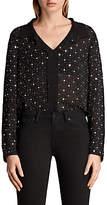 AllSaints Shalien Star Shirt, Black