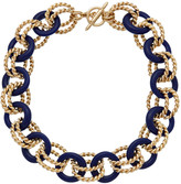 Kenneth Jay Lane 22K Plated Resin Link Toggle Necklace
