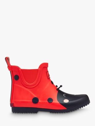 Joules Little Joule Children's Wellibob Ladybird Short Wellington Boots, Red