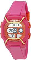 Roxy The Guard Women's Digital Watch with LCD Dial Digital Display and Pink Silicone Strap RX/1015PKOR