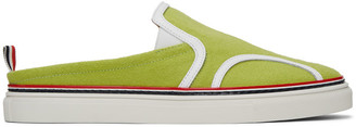 Thom Browne Yellow Flannel Slip-On Loafers