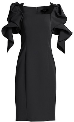 Badgley Mischka Origami Sleeve Dress