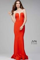 Jovani Strapless Plunging Sweetheart Neck Dress JVN31607