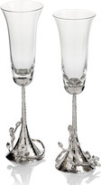 Michael Aram White Orchid Toasting Flutes, Set of 2
