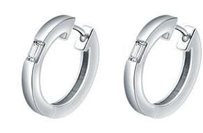 Camilla White Gold Diamond Huggie Earrings