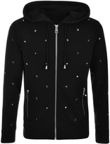 Just Cavalli Full Zip Star Hoodie Black