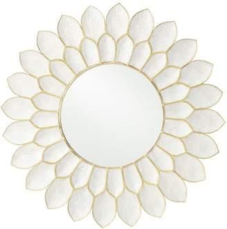 Pottery Barn Teen Capiz Flower Mirror, White/Gold