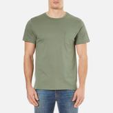 A.P.C. Men's Stitch Pocket TShirt - Vert Grise