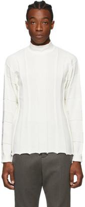 Issey Miyake White Fit Knit Sweater