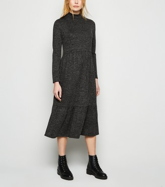 New Look High Neck Smock Midi Dress
