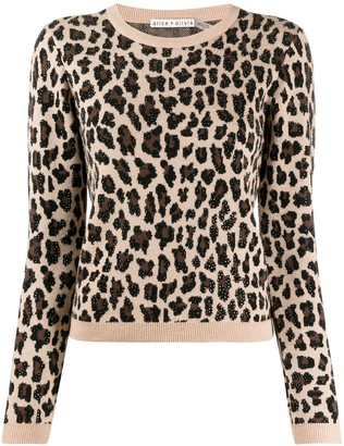 Alice + Olivia Leopard Print Knitted Jumper