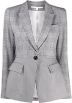 Veronica Beard Suri plaid Dickey blazer