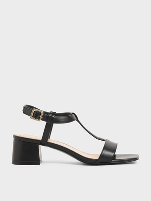 Charles & Keith T-Bar Block Heel Sandals