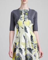 Lela Rose Classic Silk Shrug, Charcoal
