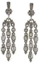 Judith Ripka 18K White Gold Diamond Flower Earrings