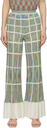 Missoni Multicolor Flared Grid Trousers