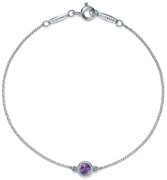 Tiffany & Co. Elsa Peretti Color by the Yard bracelet in sterling silver with an amethyst