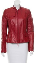 Akris Punto Long Sleeve Leather Jacket