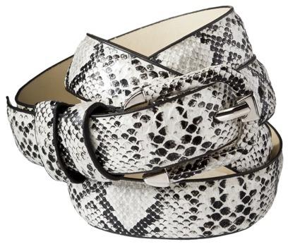 Merona Snake Trouser Belt - White