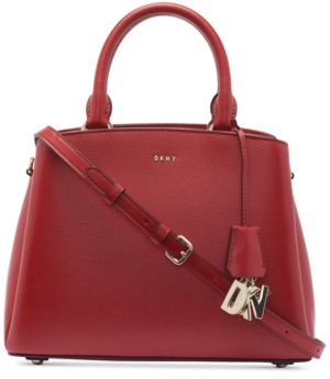 DKNY Leather Paige Medium Satchel