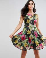 AX Paris Floral Print Chiffon Skater Dress
