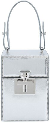 Oscar de la Renta mini Alibi top handle box bag