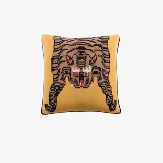 SAVED NY Yellow Tiger Rug cushion