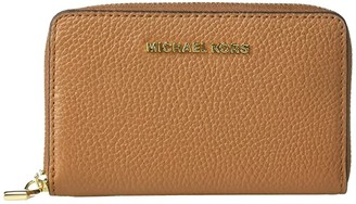 MICHAEL Michael Kors Jet Set Small Zip Around Card Case (Acorn) Handbags