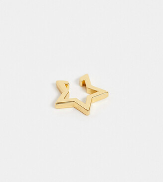 Orelia open star ear cuff in gold plated