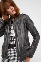 Free People Rumpled Leather Blazer