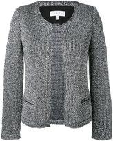 IRO 'Wallace' metallic knit jacket - women - Cotton/Polyamide/Polyester/other fibers - 36