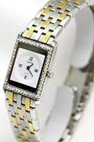 Concord Delirium 18k Gold and Steel Diamond Bezel Sapphire Crystal 2.8mm Thinnest Swiss Women's Watch