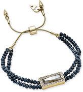 lonna & lilly Gold-Tone Beaded Slider Bracelet