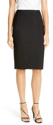 St. John Sculpted Milano Knit Pencil Skirt