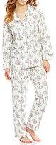BedHead Chandelier-Print Flannel Pajamas