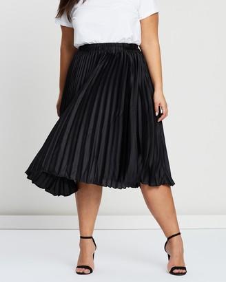 Atmos & Here Pleated Midi Skirt