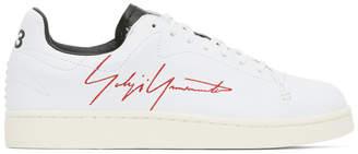 Y-3 White Logo Court Sneakers