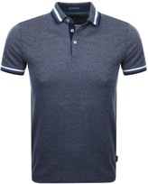 Ted Baker Short Sleeved Bates Polo T Shirt Navy