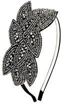 Coucoland Art Deco Headpiece Flapper Headband 1920s Headpiece Black Rhinestone Headband for Women
