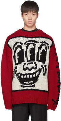 Études Red Keith Haring Edition Knit Sweater