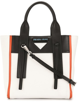 Prada Pre-Owned Triangle Plaque Colour-Block Two-Way Bag