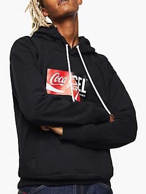 Diesel x Coca-Cola Logo Hoodie, Black
