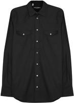 Dolce & Gabbana Black Cotton Poplin Shirt