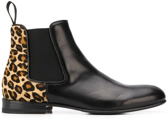 Scarosso Lexi leopard print chelsea boots