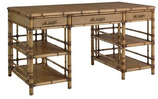 Tommy Bahama Home Twin Palms Solid Wood Writing Desk Home